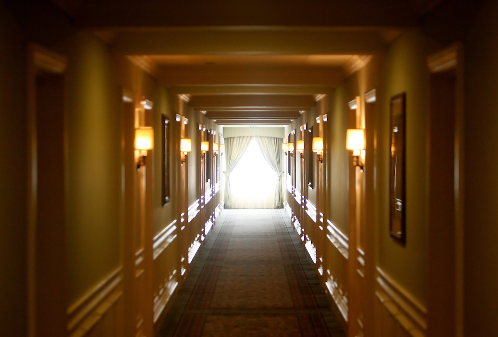 CLEARWATER, FL -- December 3, 2009 -- Light pours into a hallway of rooms at the renovated Fort Harrison Hotel, which serves as the Flag Service Organization's religious retreat for Scientologists from around the globe,  during a tour at the international spiritual headquarters for the Church of Scientology in Clearwater, Fla., on Thursday, December 3, 2009.