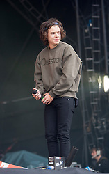 Harry Style from One Direction, opens on the main stage. Saturday at Glasgow Green, BBC Radio 1's Big Weekend Glasgow 2014.