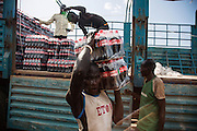 Konyokonyo market in Juba, South Sudan. The first shipment of Ugandan Coca-Cola in to South Sudan.