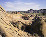 AA00194-01...NORTH DAKOTA - Sandstone formations in Theodore Roosevelt National Park.