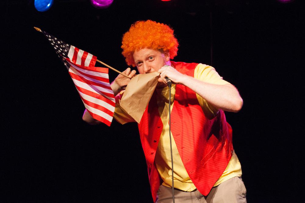Tony Zaret as Carrot Top - Schtick or Treat 2013 - Littlefield, Brooklyn - October 27, 2013