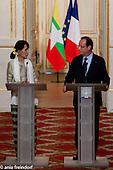 Aung San Suu Kyi, President of France François Hollande