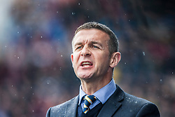 Queen of the South's manager Jim McIntyre.<br /> Falkirk 3 v 1 Queen of the South, Scottish Premiership play-off quarter-final second leg played today at the Falkirk Stadium.