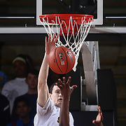 Sanford Warriors Center JACOB WALSH (10) attempts to block a shot in the first half of a Boys Basketball DIAA State Tournament Finals match between the Sanford Warriors and the St. Georges Hawks Saturday, Mar. 12, 2016, at The Bob Carpenter Sports Convocation Center in Newark, DEL.