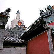 AA01226-04...CHINA - The White Dagoba at Beihai Park in Beijing
