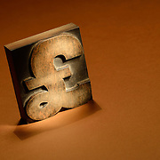 A concept photo of a pound symbol