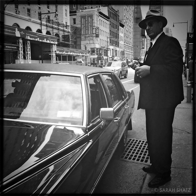 Man with Cadillac