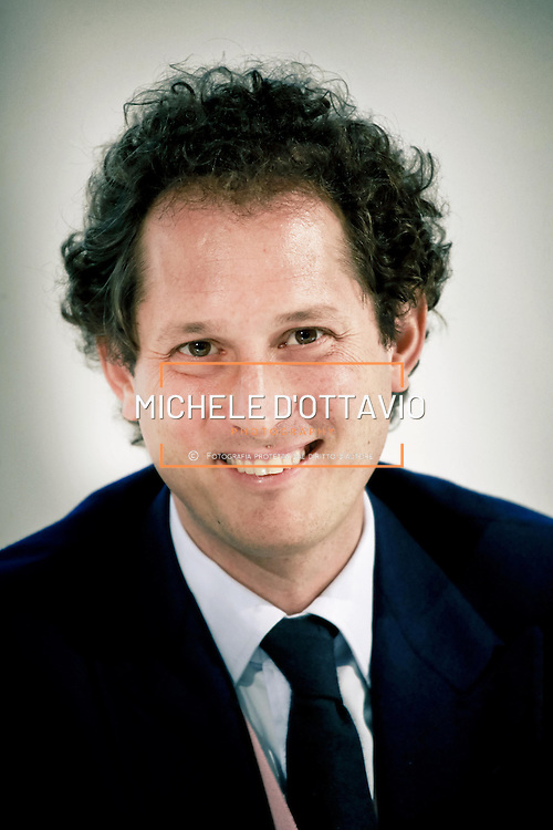 John Elkann, chairman of Fiat SpA,  during last annual general meeting (AGM) in Turin, Italy, on Monday, March 31, 2014