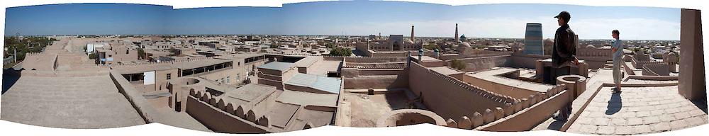 Full view of Khiva, Uzbekistan.