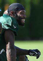 Jun 7, 2012; Florham Park, NJ, USA; New York Jets cornerback Antonio Cromartie (31) during the New York Jets organized team activities at the Atlantic Health Training Center.