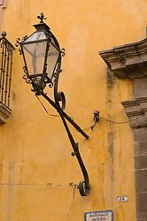 Gas Lamp in San Miguel de Allende, Mexico.