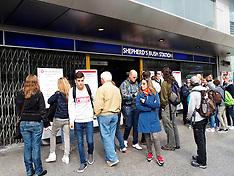 AUG 22 2014 London Underground Strike