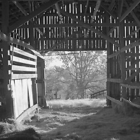 Inside a barn in rural Kentucky.  Infrared (IR) photograph by fine art photographer Michael Kloth.