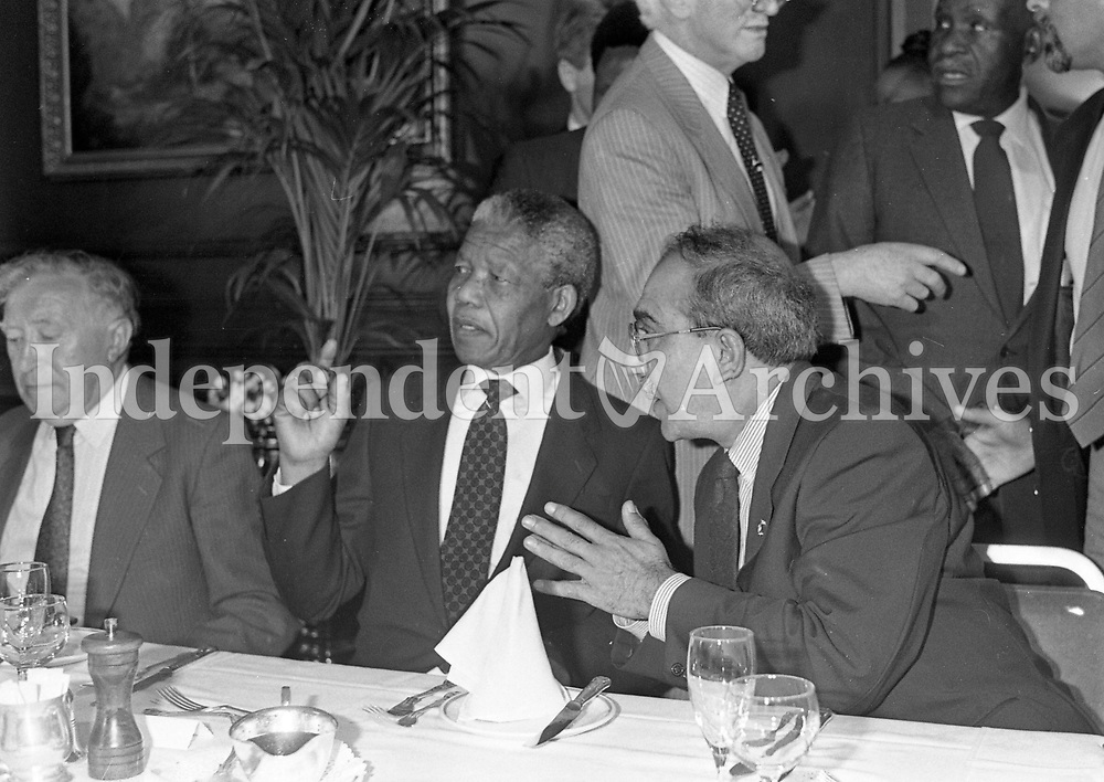 Nelson Mandela at the Berkley Court Hotel, 02/07/1990 (Part of the Independent Newspapers Ireland/NLI Collection).