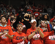 Rebel the Bear mascot cheers in the student section at Ole Miss vs. Mississippi Valley State in Oxford, Miss. on Friday, November 9, 2012.