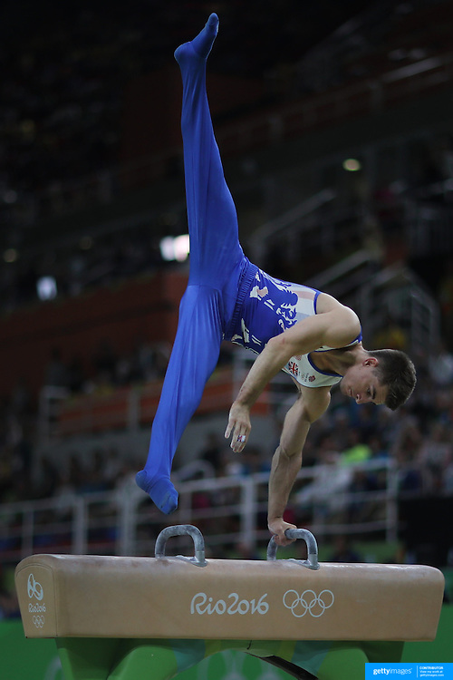 Gymnastics - Olympics: Day 9  Max Whitlock of Great Britain performs his routine in the Men's Pommel Horse Final to win the gold medal at the Rio Olympic Arena on August 14, 2016 in Rio de Janeiro, Brazil. (Photo by Tim Clayton/Corbis via Getty Images)