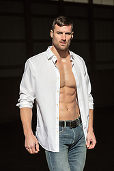 All American man in a white button down shirt