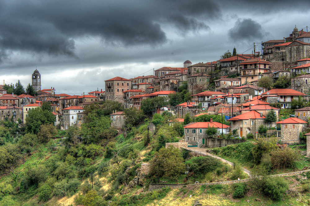 View of Dimitsana, Greece