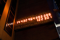 The National Debt clock located at the Internal Revenue Service (IRS) Building in New York. Taken July 31, 2011...Photo by Robert Caplin.