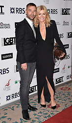 Charlie Condou and Michelle Collins attend The British LGBT Awards at The Landmark Hotel, London on Friday 24 April 2015