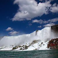 Canada, Ontario, Niagara Falls. American Falls at Niagara Falls.