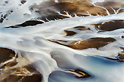 Iceland's Hvita River flows towards the Atlantic, July, 2014.