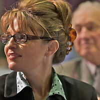 Technology Conference, Anchorage, Alaska, October, 2007, Sarah Palin, with former Governor of Alaska, Walter Hickel