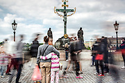 Movement on Charles Bridge, Prague