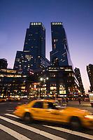 skyscrapers around Columbus Circle - New York City in October 2008
