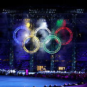 The Opening Ceremonies for the 2006 Winter Olympics took place at the Stadio Olimpico in Turin, Italy Friday February 10, 2006 kicking off 16 days of competition in various winter sports. The Opening Ceremonies featured plenty of fire, the introduction of athletes, a performance by Luciano Pavarotti and the lighting of the Olympic Flame..(Photo by Marc Piscotty / © 2006)