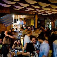 Palestinians enjoy ramallah nightlife at the Orjuwan lounge bar in Ramallah..Credit photo: Olivier Fitoussi.