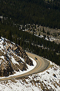 Beartooth Scenic Byway, Montana, Beartooth Range, Gallatin National Forest, travelers on opening day in May, Cooke City to Beartooth Pass and Red Lodge
