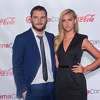 LAS VEGAS - MARCH 27: Rising Stars of 2014 award winners, actors Jack Reynor and Nicola Peltz arrives at The CinemaCon Big Screen Achievement Awards at The Caesars Palace on March 27, 2014 in Las Vegas