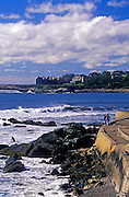 Image of the Cliff Walk at the seaside town of Newport, Rhode Island, America Northeast