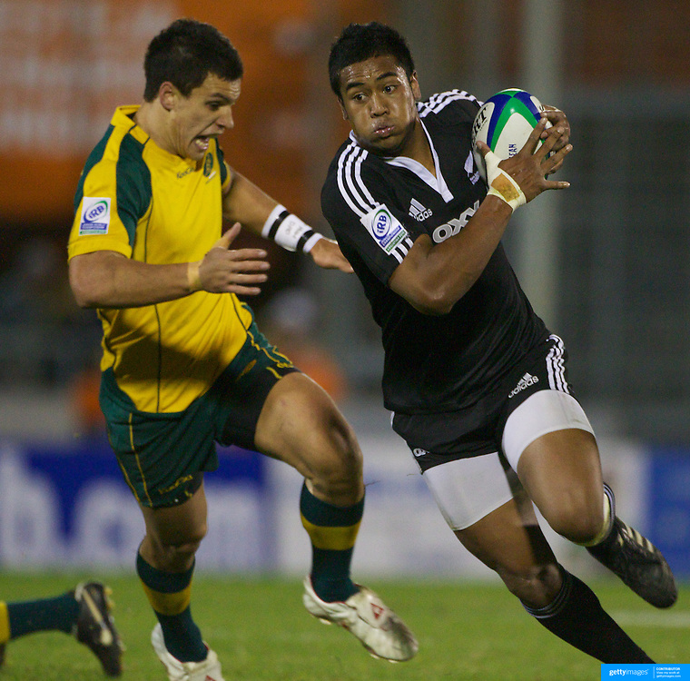 Julian Saver, New Zealand, in action during the Australia V New Zealand Final match at Estadio El Coloso del Parque, Rosario, Argentina, during the IRB Junior World Championships. 21th June 2010. Photo Tim Clayton....