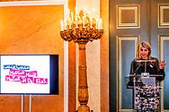 22-3-2017 THE HAGUE - Queen Maxima speaks Prof. Erik Scherder, Professor of Clinical Neuropsychology at the University of Amsterdam on the effects of music on the child's brain. In interactive workshops then bend the more than 200 existing teachers, school principals and administrators over the possibilities of introducing structural music and embed within their schools. During the joint conclusion of the proceeds of the workshops will be shared and translated into concrete actions. Queen M&aacute;xima receives the guests at Noordeinde Palace as honorary chairman of the Platform Ambassadors and is working with the Ambassadors of More Music in the Classroom for structural music education for all children in the basisschool.COPYRIGHT ROBIN UTRECHT<br /> <br /> 22-3-2017 DEN HAAG - Koningin Maxima spreekt prof.dr. Erik Scherder, hoogleraar Klinische Neuropsychologie aan de Vrije Universiteit Amsterdam over de effecten van muziekonderwijs op het kinderbrein. In interactieve workshops buigen de ruim 200 aanwezige leerkrachten, schooldirecteuren en bestuurders zich vervolgens over de mogelijkheden om structureel muziekonderwijs te introduceren en verankeren binnen hun basisscholen. Tijdens de gezamenlijke afsluiting worden de opbrengsten van de workshops gedeeld en omgezet in concrete acties. Koningin M&aacute;xima ontvangt de genodigden op Paleis Noordeinde als erevoorzitter van het Platform Ambassadeurs en zet zich samen met de Ambassadeurs van Meer Muziek in de Klas in voor structureel muziekonderwijs voor alle kinderen op de basisschool.COPYRIGHT ROBIN UTRECHT