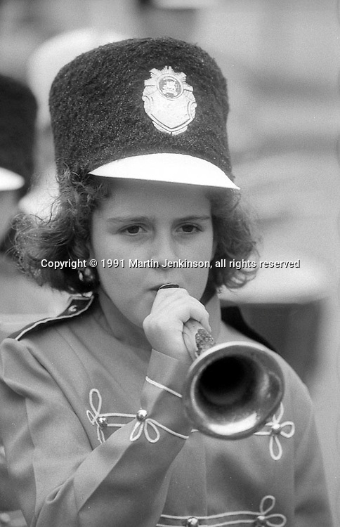 Kendray Griffins Jazz Band. 1991 Yorkshire Miners Gala. Doncaster.