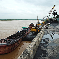 Vietnam | Industry | Charcoal Harbour along Red river