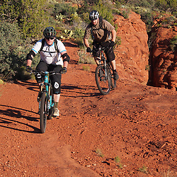 Sedona Mountain biking on epic single track trails made in the shade and high line.
