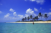 Image of the tropical beach and waters of Sandy Island in Anguilla, Lesser Antilles, Caribbean