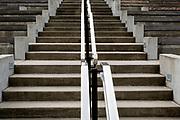 SD00026-00...SOUTH DAKOTA - Steps and railing at Mount Rushmore National Memorial.