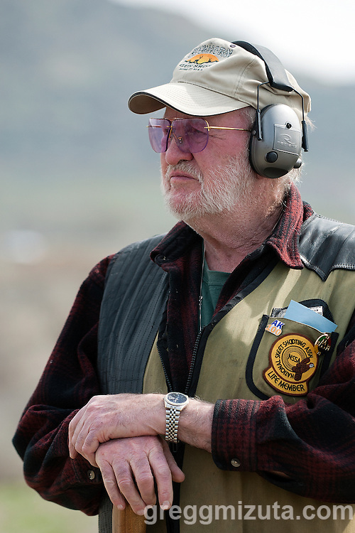 The Malheur Gun Club trap shoot at the Vale airport, Vale, Oregon, March 16, 2014.