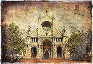 Sainte Catherine Church (Sepia), Brussels, Belgium - Forgotten Postcard
