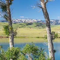 Hogan Lake in the Bighorn Basin of Wyoming during summer