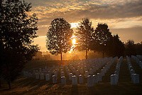 Sunrise at Camp Nelson National Cemetery pictured in Nicholasville, Ky. on 9/4/12. Photo by David Stephenson