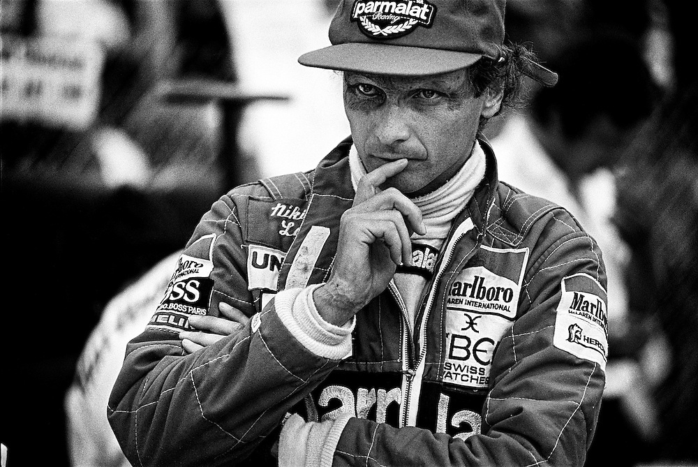 Niki Lauda came out of retirement for the 1982 Formula One season, racing for Marlboro McLaren, and believing he still had the ability to win. Here, he presents the classic Lauda pre-race stare. He was proven correct as he went on to win Long Beach that year, and his third World Formula One Driver&rsquo;s Championship in 1984.<br />
