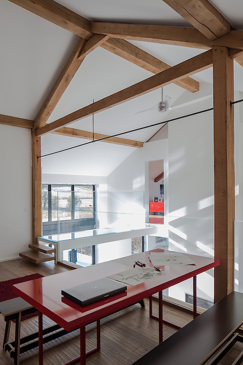 norwich norfolk house interior architecture red desk