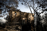 BEIT OREN, ISRAEL - DECEMBER 03:  Damage house by the fire on December 3, 2010 in Beit Oren, Israel. 41 people have been killed and 13, 000 residents evacuated as Northern Israel faces the country's worst ever forest blaze. International firefighting planes, equipment and personel are arriving following an urgent appeal for help tackling the fire that has already consumed over 2,800 hectares.© ALESSIO ROMENZI