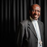 Lisboa, 25/08/2015 - <br /> Jos&eacute; Imbamba, Arcebispo de Saurimo (Angola) aborda em conferencia nas instala&ccedil;&otilde;es da R&aacute;dio renascen&ccedil;a a situa&ccedil;&atilde;o do catolicismo em Angola.<br /> (Paulo Alexandrino / Global Imagens)