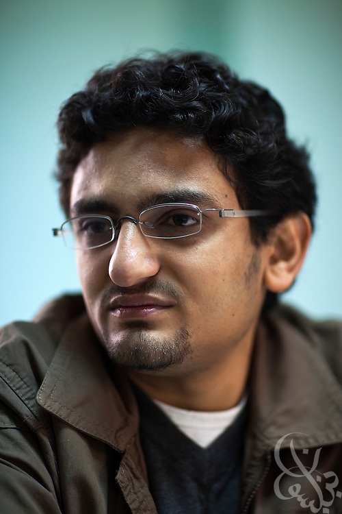 "Egyptian revolutionary activist Wael Ghonim speaks about the ongoing revolution January 22, 2012 in Cairo, Egypt. Ghonim famously started the initial revolutionary Facebook page calling for widespread demonstrations last year against the rule of then President Hosni Mubarak's regime,  helping lead to the historic 18 day uprising that swept them from power. His new book, ""Revolution 2.0"", is an insiders' account of the revolution and a revealing behind the scenes look at the Egyptian revolutionaries that made it possible."